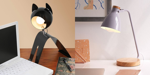 Lampshade, Lamp, Cat, Lighting accessory, Lighting, Black cat, Light fixture, Design, Small to medium-sized cats, Room,