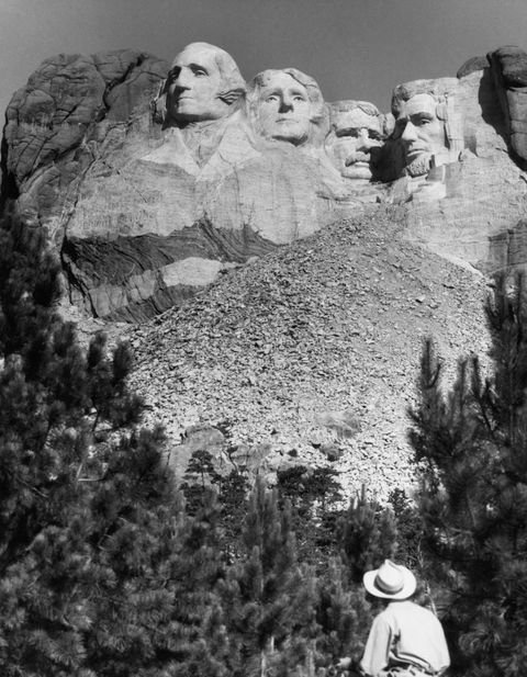united states, south dakota, view of mt rushmore national monument