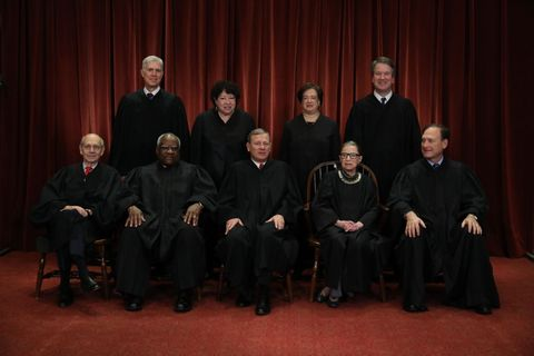 us supreme court justices pose for official group portrait