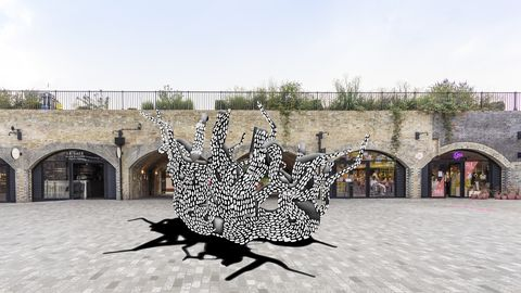 unity by marlene huissoud, ldf 2020, south end arches, coal drops yard, king's cross