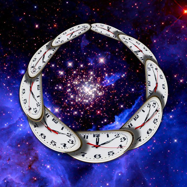 universe and circular time, conceptual illustration