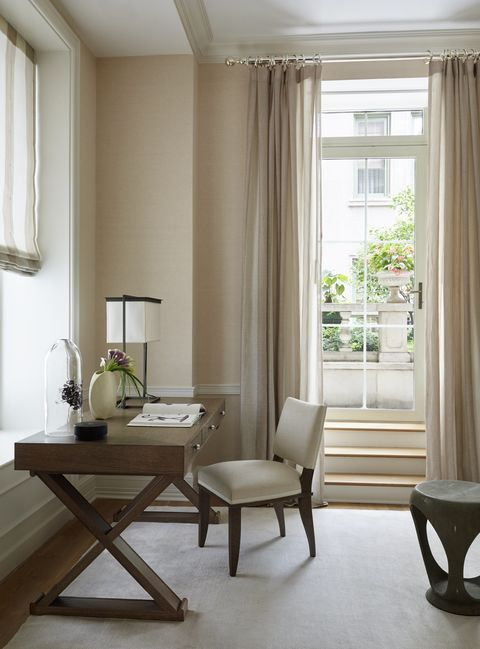 Curtain, Room, Interior design, Furniture, White, Property, Window treatment, Floor, Living room, Window covering,