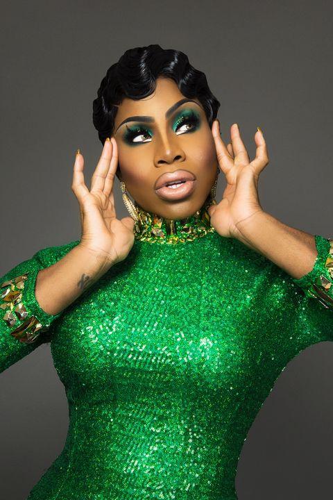 Green, Beauty, Fashion accessory, Gesture, Model, Black hair, Performance,