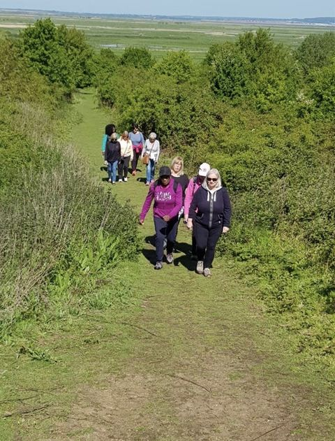 Walking group tackling loneliness