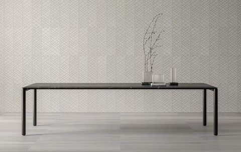 salvatori dining table salone   elle decor