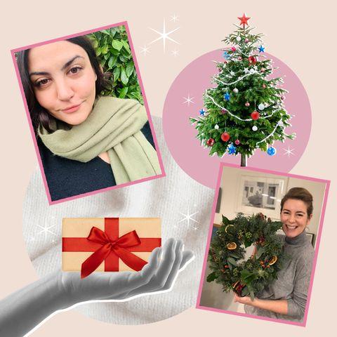 Human, Event, Christmas decoration, Red, Facial expression, Holiday, Christmas ornament, Christmas eve, Christmas, Holiday ornament,