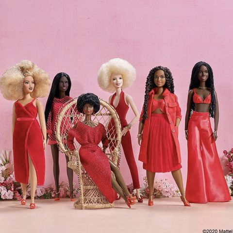 Pink, Clothing, Fashion, Doll, Dress, Fashion design, Joint, Toy, Formal wear, Barbie,