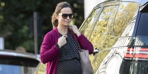 EXCLUSIVE: Pippa Middleton Shows Off Her Fashionable Maternity Style while Running Errands in London