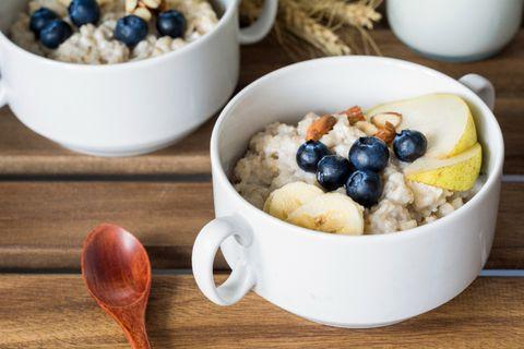 Dish, Food, Cuisine, Breakfast cereal, Ingredient, Porridge, Breakfast, Steel-cut oats, Meal, Vegetarian food,
