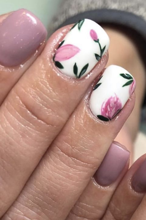 easter nail designs - flowers