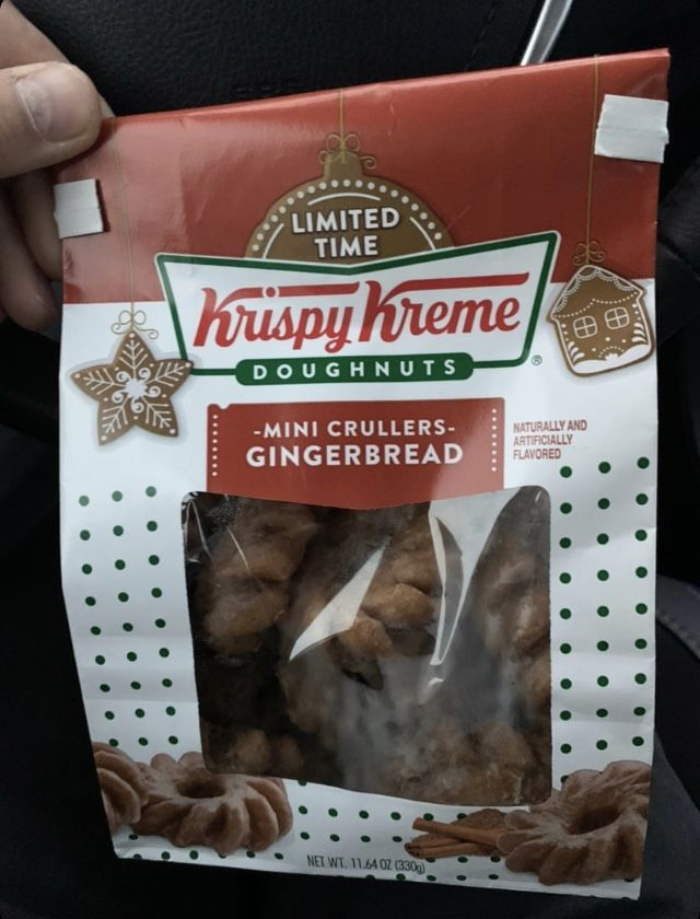 You Can Pick Up A Pack Of Gingerbread Krispy Kreme Donuts During Your Black Friday Shopping