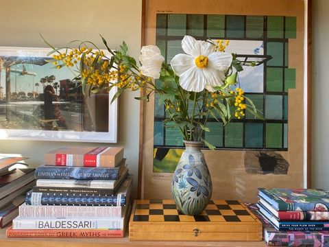 A vase from Puerto Vallarta in the home of Frances Merrill of Reath Design.