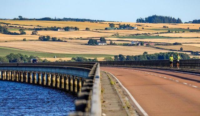 Plain, Field, Bridge, Farm, Land lot, Agriculture, Rural area, Guard rail, Reservoir, Channel,