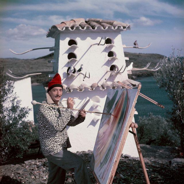 salvador dali in figueres, spain   spain   circa 1900 salvador dali in figueres, spain   the artist in his home