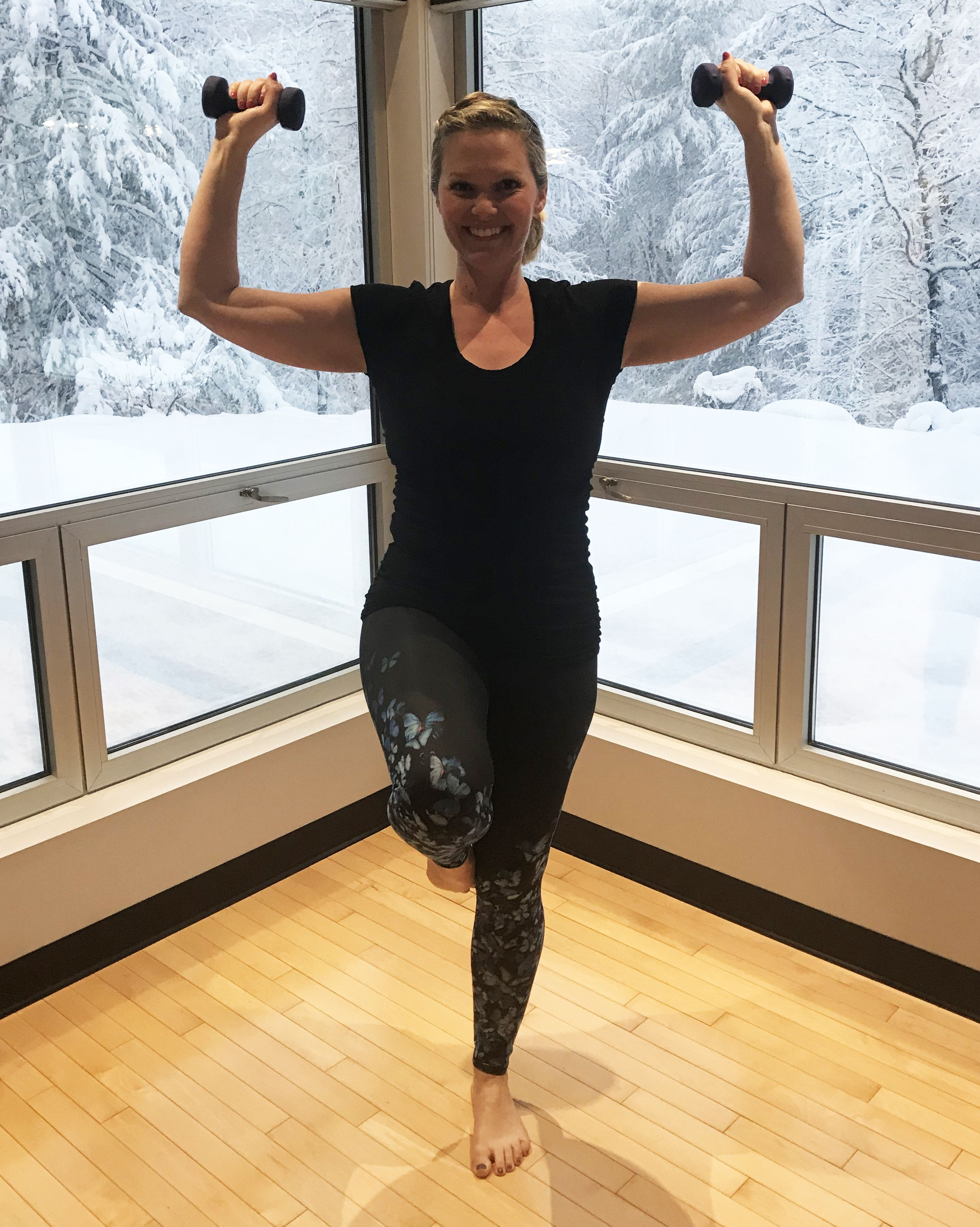 Balance with Shoulder Press