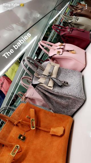 c40ecb8a2cf7 Kylie Jenner Snapchats All Her Birkin Bags - Kylie Jenner Purse Closet