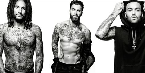Tattoo, Beard, Human, Muscle, Facial hair, Chest, Abdomen, Model, Photography, Professional wrestling,