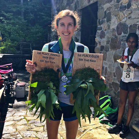 Woman wins 50K ultra outright and gets the 'Male' trophy too
