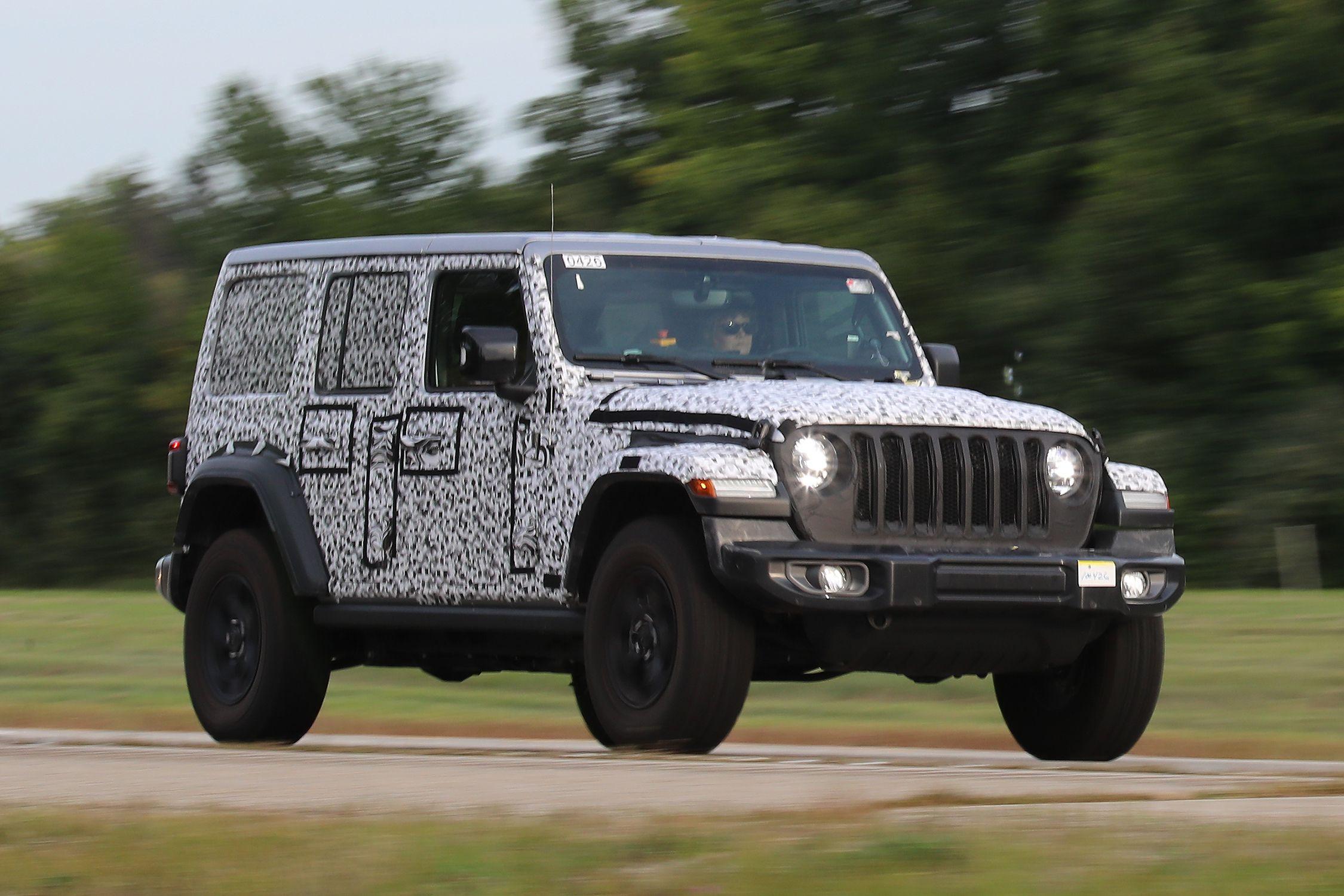 High Quality 2018 Jeep Wrangler Spy Shots