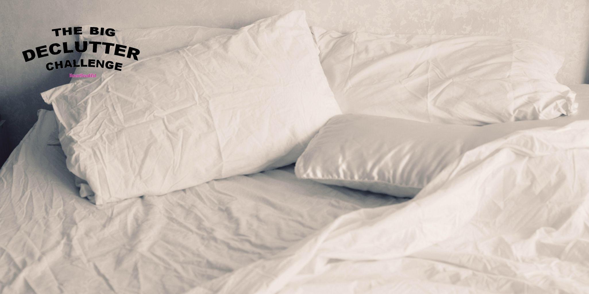 Unmade bed - Big Declutter Challenge