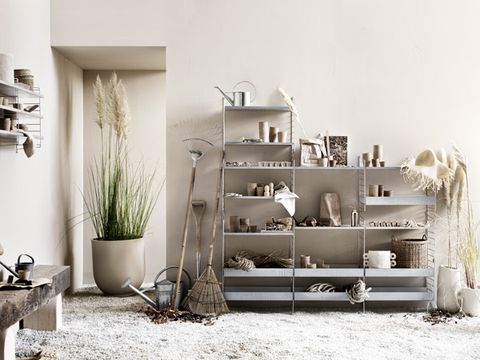 White, Furniture, Room, Interior design, Shelf, Table, House, Living room, Material property, Architecture,