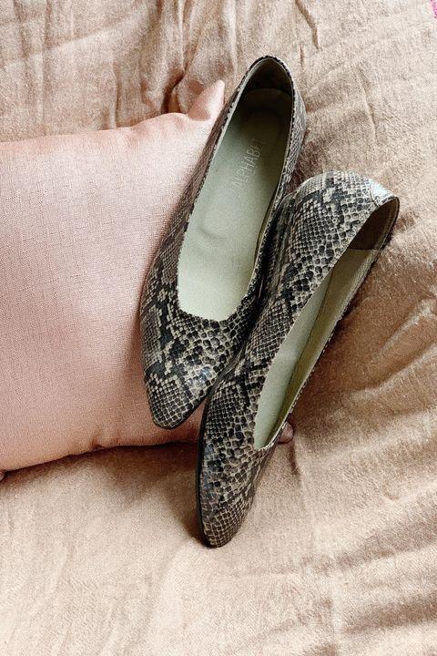 Footwear, Shoe, Ballet flat, Slipper, Silver, Espadrille, Still life photography, Bridal shoe,