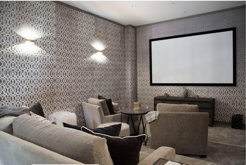 basement movie theater room