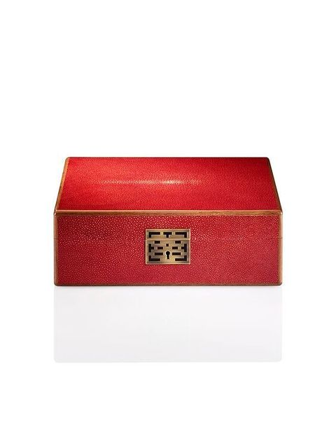 Box, Red, Rectangle, Material property, Fashion accessory, Bangle, Wallet, Leather, Packaging and labeling,