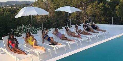Leisure, Sunlounger, Comfort, Summer, Umbrella, Sitting, Vacation, Outdoor furniture, Sun tanning, Shade,