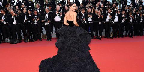 Red carpet, Carpet, Dress, Flooring, Fashion, Premiere, Gown, Event, Haute couture, Fashion model,