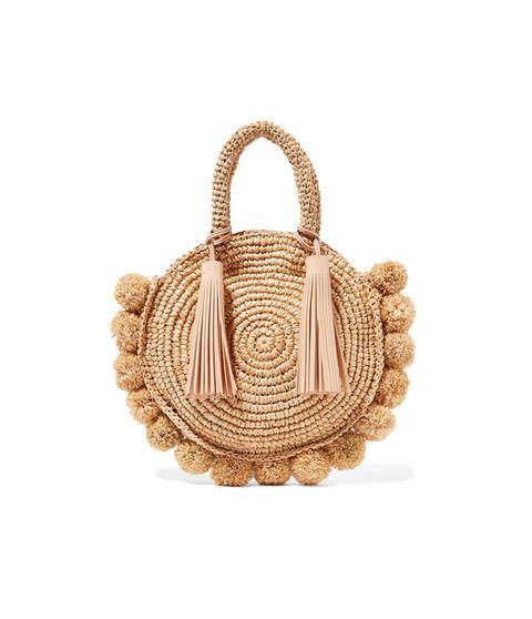 Bag, Handbag, Beige, Fashion accessory, Tan, Wicker, Basket, Tote bag, Hobo bag, Oval,
