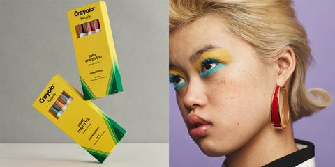 crayola launched a 58 piece makeup collection with 95 colors