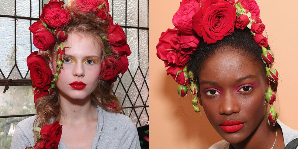 Rodarte Sent High-Fashion Flower Crowns Down the NYFW Runway
