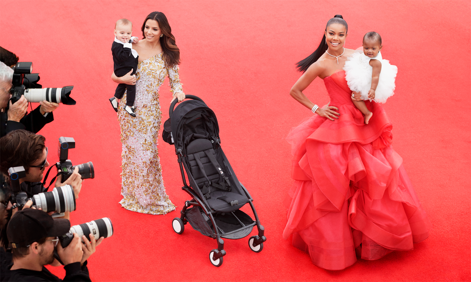 Gabrielle Union & Eva Longoria Want to Wear Their Babies on the Red Carpet