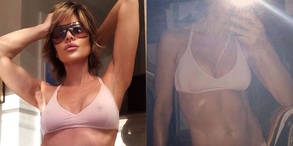 RHOBH's Lisa Rinna Just Shared Two Photos In Her Undies for Breast Cancer Awareness