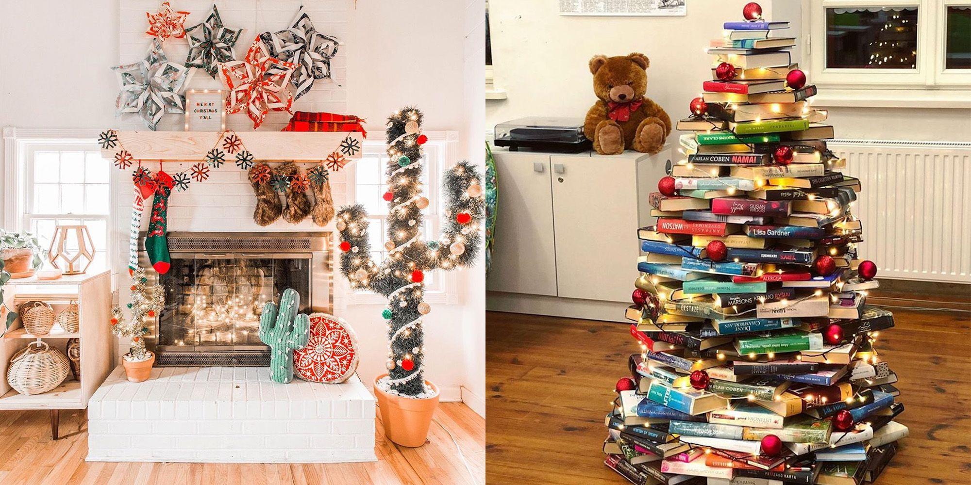 25 Alternative Christmas Tree Ideas Festive Styles For Small Spaces