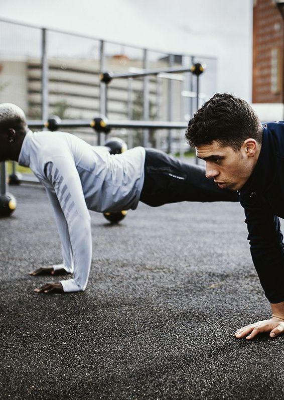 Press up, Physical fitness, Plank, Arm, Exercise, Strength training, Sports training, Leg, Calisthenics, Sports,