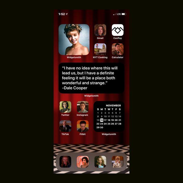 twin peaks ios 14 home screen