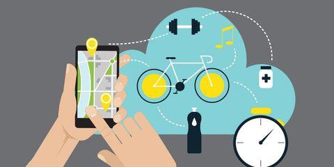 electronics and bike