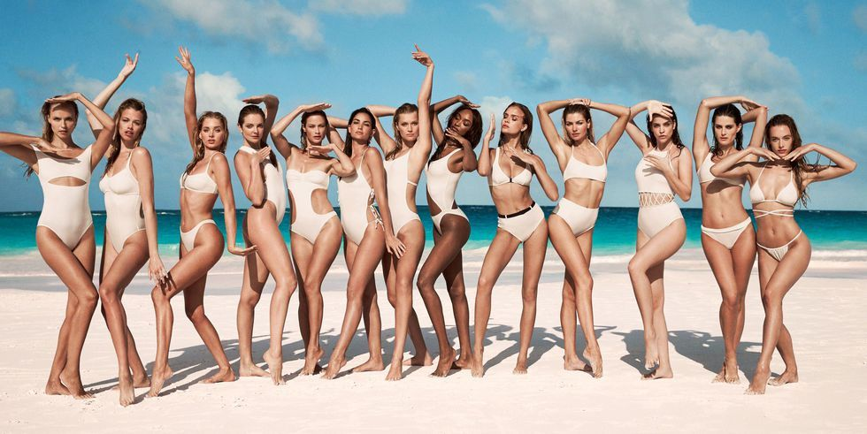 709125a7b4bd6 Exclusive: 13 Supermodels Join Solid & Striped's Swim Team