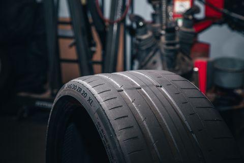 Continental Sportcontact 6 abgefahrene Reifen
