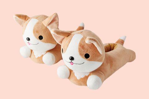 Stuffed toy, Plush, Cartoon, Toy, Puppy, Canidae, Textile, Animation, Fawn, Ear,