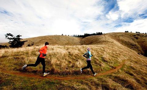 heuvels, zuinig lopen, lager energieverbruik, heuveltraining