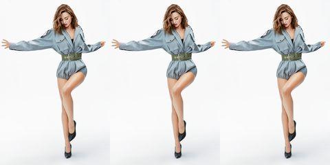 Clothing, Standing, Fashion, Fun, Shoulder, Leg, Fashion model, Denim, Joint, Fashion design,