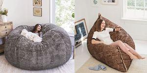 超巨大「豆袋沙發」是每個客廳最需要的舒適空間!