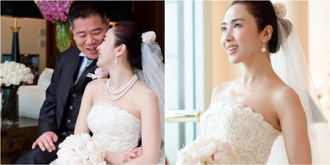 Bride, Gown, Photograph, Wedding dress, Dress, Hair, Facial expression, Bridal clothing, Skin, Clothing,