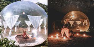 【ELLE怪奇物語】峇里島海邊的「泡泡窩」!完全透明的帳篷,真的可以數星星入睡!