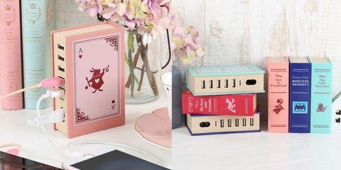 「迪士尼童話書」造型的充電器!愛麗絲夢遊仙境、小美人魚等4款超夢幻設計,每一本都好想要啊!