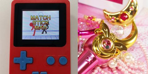 Game boy console, Gadget, Game boy, Electronic device, Technology, Nintendo ds accessories, Pink, Electronics, Games, Video game accessory,
