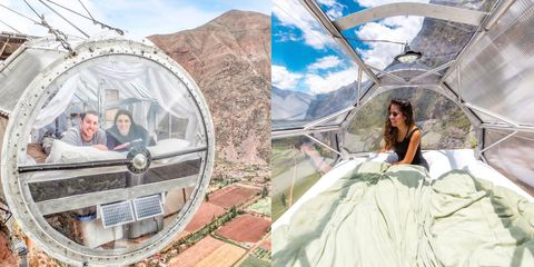 【ELLE怪奇物語】掛在懸崖上的玻璃屋,你敢住嗎?120米高空中的膠囊飯店,想入住要先學會攀岩!